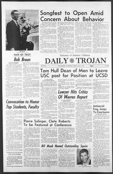 Daily Trojan, Vol. 58, No. 118, May 05, 1967