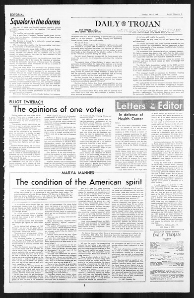Daily Trojan, Vol. 59, No. 64, February 06, 1968