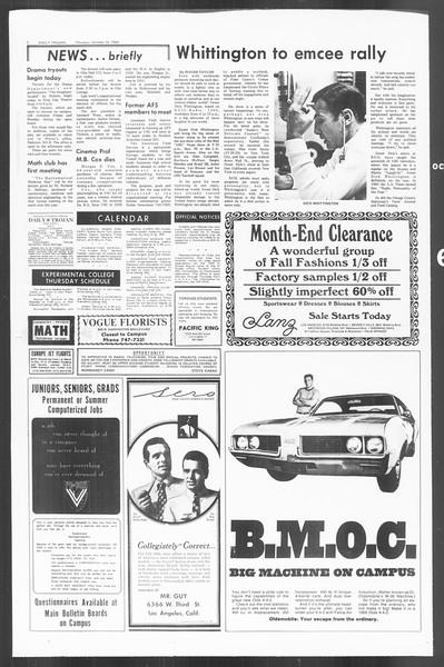 Daily Trojan, Vol. 60, No. 26, October 24, 1968