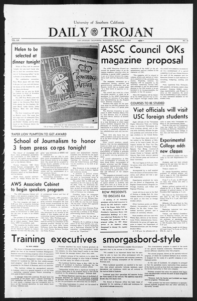 Daily Trojan, Vol. 59, No. 36, November 08, 1967