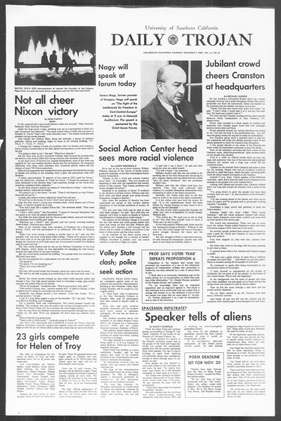 Daily Trojan, Vol. 60, No. 34, November 07, 1968