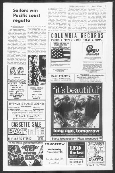 Daily Trojan, Vol. 64, No. 44, November 23, 1971