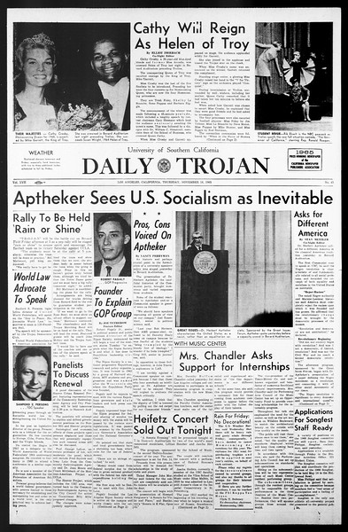 Daily Trojan, Vol. 57, No. 43, November 18, 1965