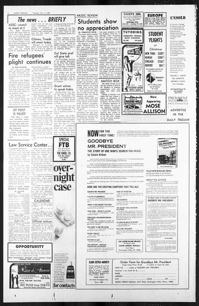 Daily Trojan, Vol. 59, No. 35, November 07, 1967