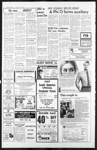 Daily Trojan, Vol. 59, No. 25, October 20, 1967
