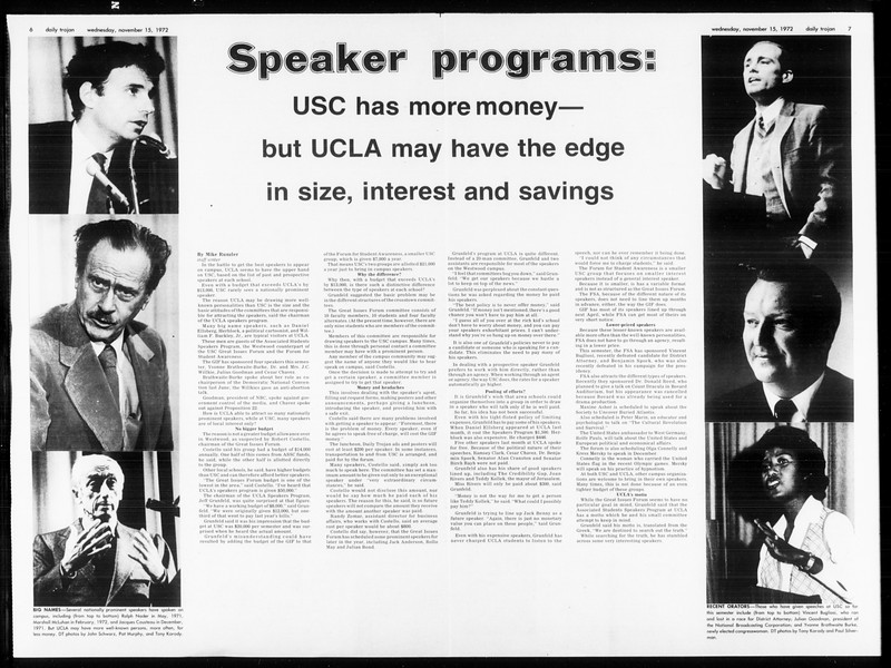 Daily Trojan, Vol. 65, No. 40, November 15, 1972