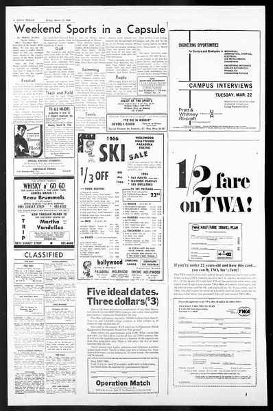 Daily Trojan, Vol. 57, No. 86, March 11, 1966