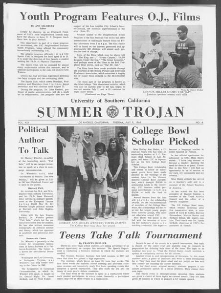 Summer Trojan, Vol. 19, No. 6, July 09, 1968