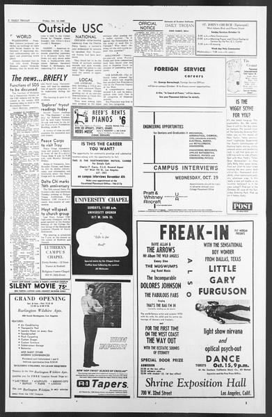 Daily Trojan, Vol. 58, No. 20, October 14, 1966
