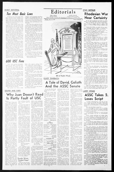 Daily Trojan, Vol. 57, No. 56, December 13, 1965