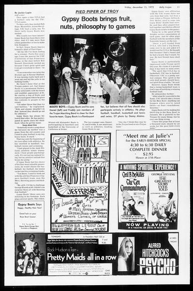 Daily Trojan, Vol. 65, No. 58, December 15, 1972