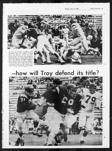 Daily Trojan, Vol. 59, No. 124, May 21, 1968