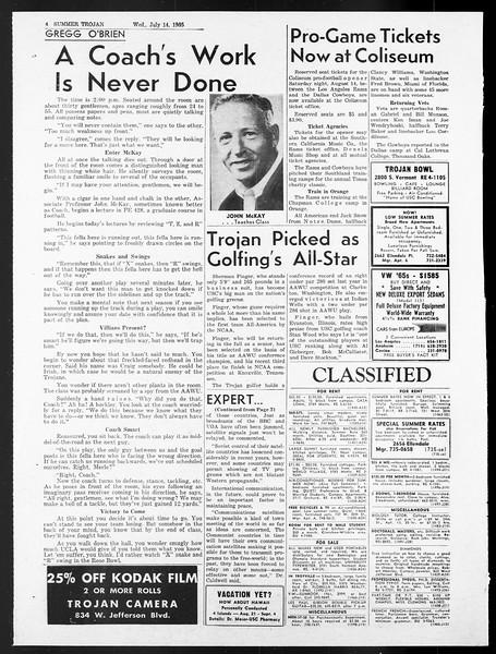 Summer Trojan, Vol. 15, No. 7, July 14, 1965