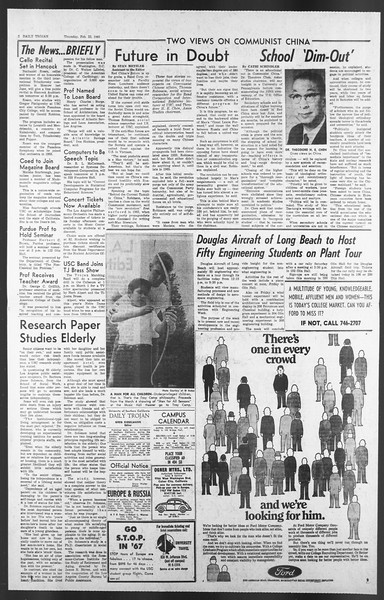 Daily Trojan, Vol. 58, No. 77, February 23, 1967