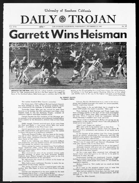 Daily Trojan, Vol. 57, No. 47, November 24, 1965