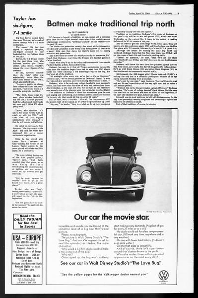 Daily Trojan, Vol. 60, No. 110, April 25, 1969