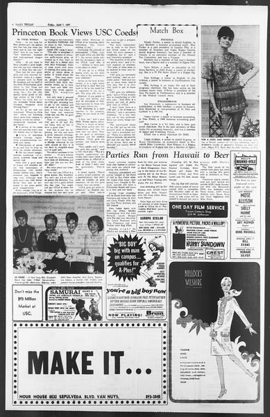 Daily Trojan, Vol. 58, No. 101, April 07, 1967