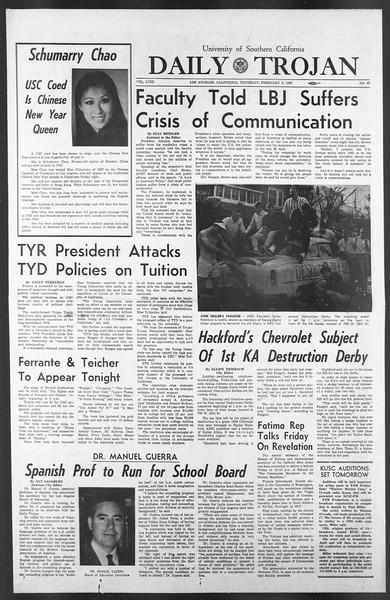 Daily Trojan, Vol. 58, No. 67, February 09, 1967