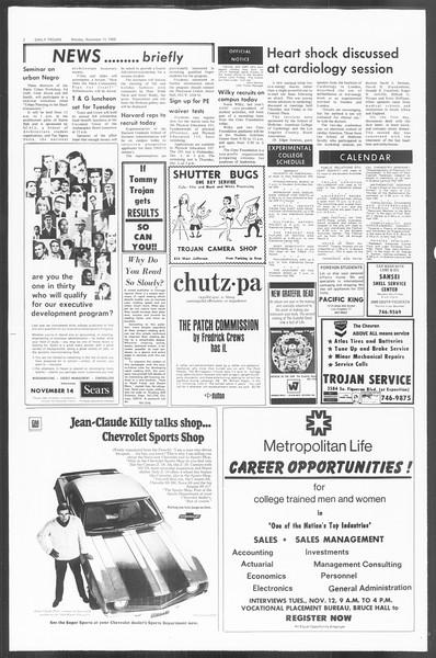 Daily Trojan, Vol. 60, No. 36, November 11, 1968