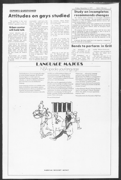 Daily Trojan, Vol. 64, No. 32, November 05, 1971