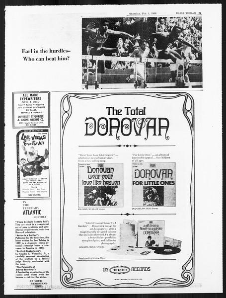 Daily Trojan, Vol. 59, No. 63, February 01, 1968