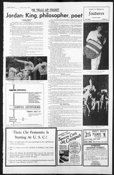Daily Trojan, Vol. 59, No. 12, October 03, 1967
