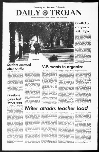 Daily Trojan, Vol. 60, No. 63, February 04, 1969