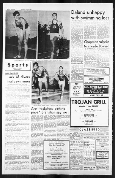 Daily Trojan, Vol. 59, No. 102, April 02, 1968