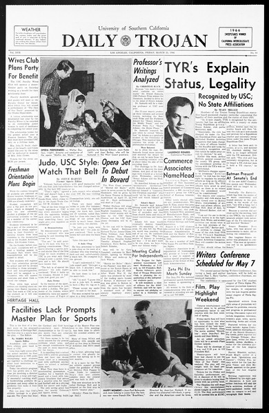 Daily Trojan, Vol. 57, No. 94, March 25, 1966