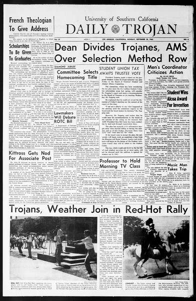 Daily Trojan, Vol. 55, No. 6, September 30, 1963