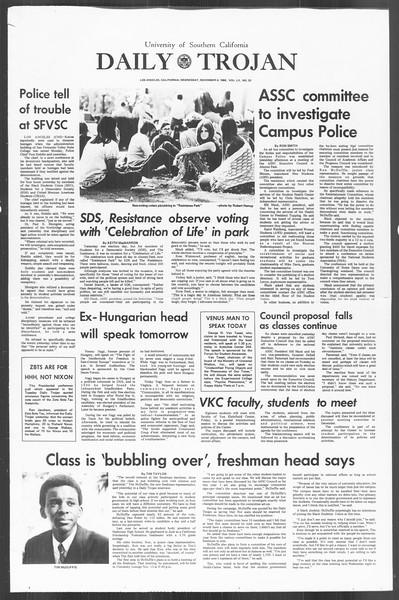 Daily Trojan, Vol. 60, No. 33, November 06, 1968