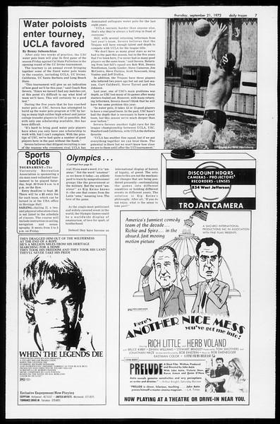 Daily Trojan, Vol. 65, No. 4, September 21, 1972