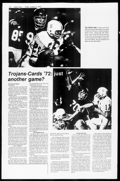 Daily Trojan, Vol. 65, No. 15, October 06, 1972