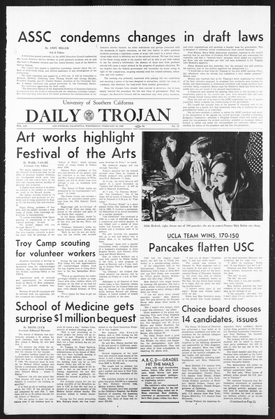 Daily Trojan, Vol. 59, No. 80, February 28, 1968