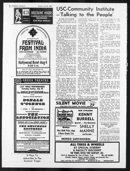 Summer Trojan, Vol. 18, No. 11, July 28, 1967