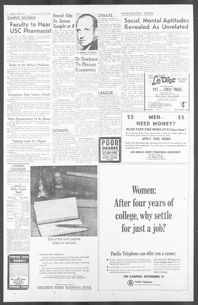 Daily Trojan, Vol. 56, No. 41, November 17, 1964