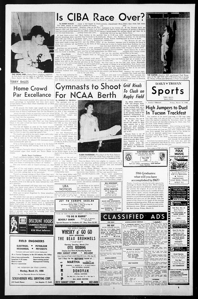 Daily Trojan, Vol. 57, No. 90, March 18, 1966
