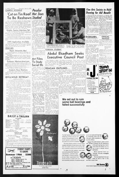 Daily Trojan, Vol. 57, No. 105, April 20, 1966