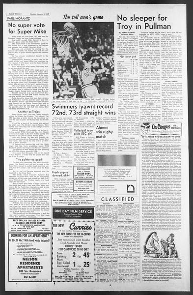 Daily Trojan, Vol. 58, No. 62, January 09, 1967
