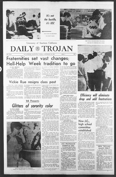 Daily Trojan, Vol. 58, No. 2, September 20, 1966