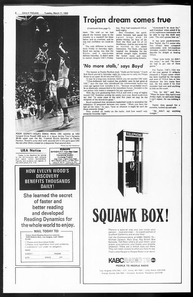 Daily Trojan, Vol. 60, No. 87, March 11, 1969