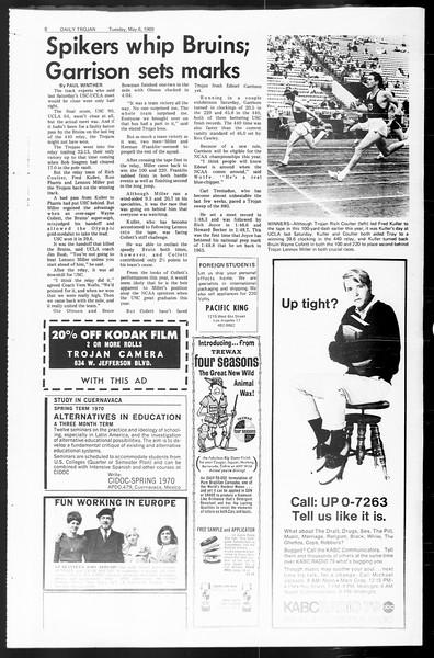 Daily Trojan, Vol. 60, No. 117, May 06, 1969