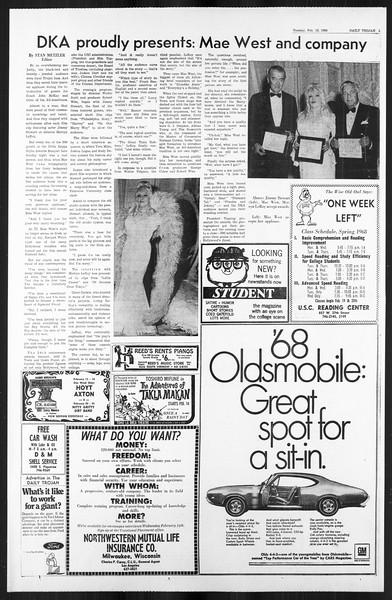 Daily Trojan, Vol. 59, No. 69, February 13, 1968