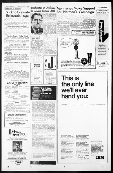 Daily Trojan, Vol. 57, No. 114, May 04, 1966