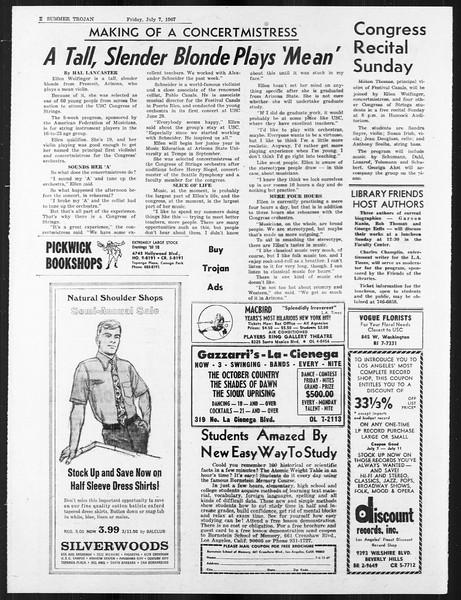 Summer Trojan, Vol. 18, No. 5, July 07, 1967