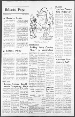 Daily Trojan, Vol. 56, No. 4, September 24, 1964