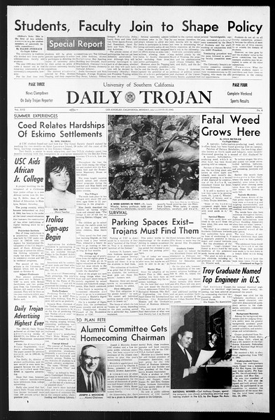 Daily Trojan, Vol. 57, No. 6, September 27, 1965