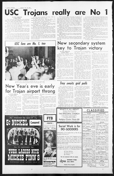 Daily Trojan, Vol. 59, No. 21, October 16, 1967