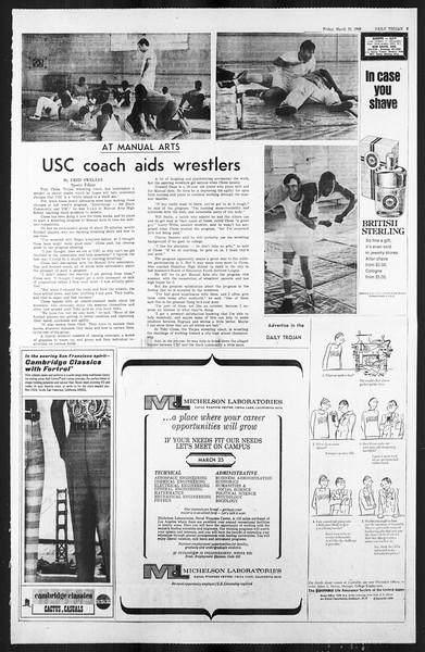 Daily Trojan, Vol. 59, No. 96, March 22, 1968