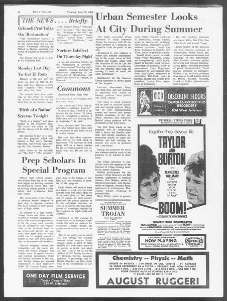 Summer Trojan, Vol. 19, No. 3, June 25, 1968